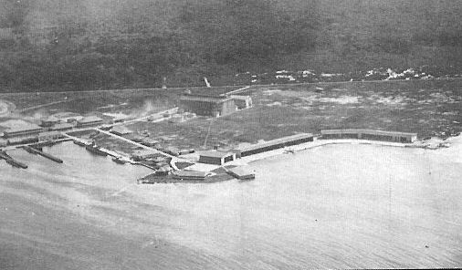 France Field, 4 December 1920. The sheds in the foreground became Coco Solo NAS.
