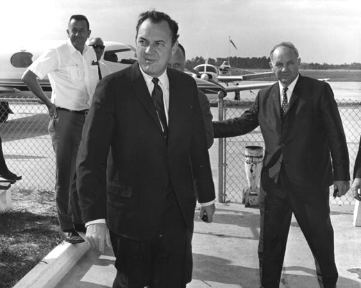 Governor Claude Kirk visited DeLand Airport in March, 1967