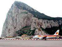 The first Iberia flight lands at Gibraltar.