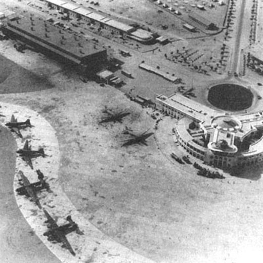 Karachi Airport in 1943 during World War II