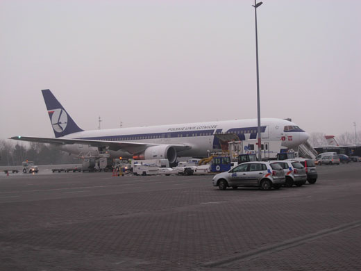 LOT Polish Airlines Boeing 767-300 at stand