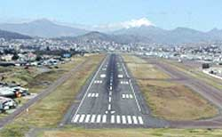View of the runway from the north.