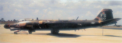 Martin B-57G-MA, AF Serial No. 53-3877 of the 4530th CCTS.