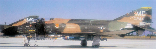 McDonnell F-4D-29-MC Phantom II, AF Serial No. 66-0244 of the 61st TFS.
