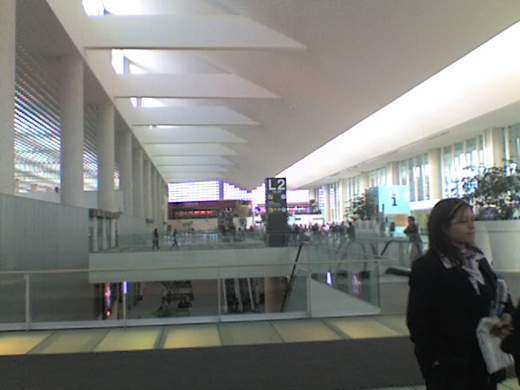 Terminal 2 Hall L2 in the foreground, Hall 1 in the far background