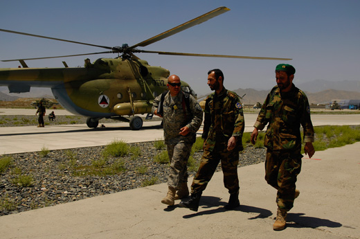 Kabul Airport is the hub for the Afghan Air Force, which also provides security to the airport.