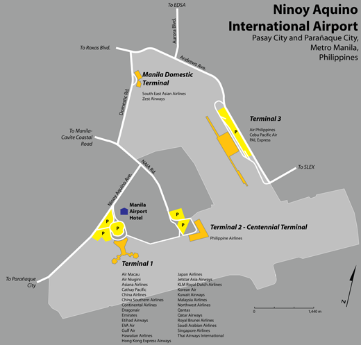 Map of Ninoy Aquino International Airport