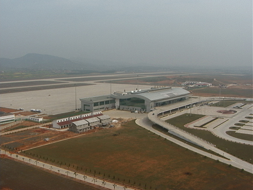 The airport in April 2000, shortly after going into operation