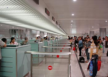 Passport Check in the international terminal, 13 August 2007