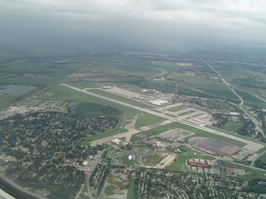 Offutt Air Force Base from approx. 1000 ft