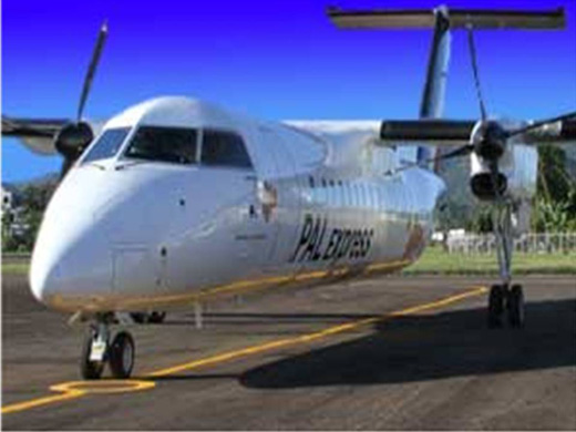 PAL Express plane at Masbate Airport in Masbate City (Bicol, Philippines)