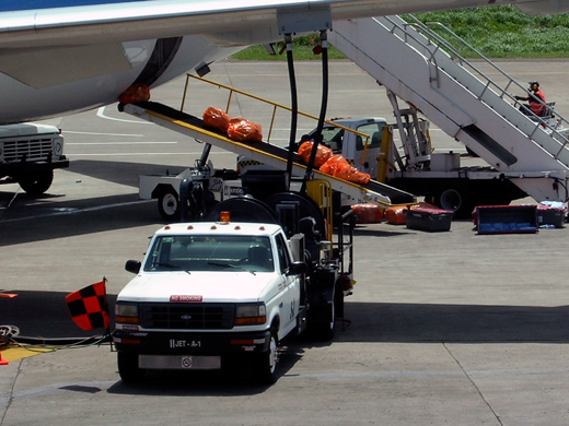 Puerto Plata ground crew attending to a flight.