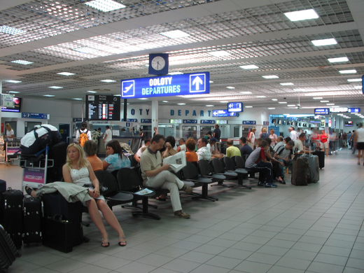 Waiting room in terminal A