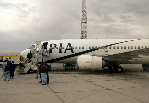A PIA Boeing 737 being serviced