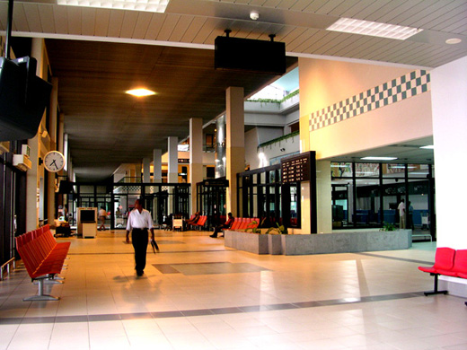 Inside the terminal
