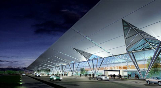 An artist's impression of the newly constructed Terminal 3 - International