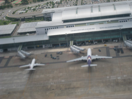 The Tan Son Nhat International Terminal as seen from high above, in 2009