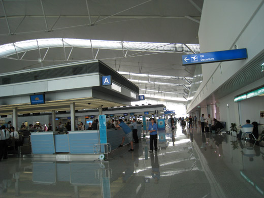 Check-in port A of Vietnam Airlines at the international terminal