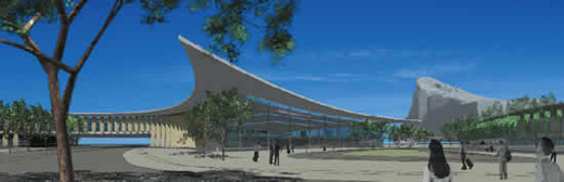 Artist's rendition of the new terminal at Gibraltar Airport.