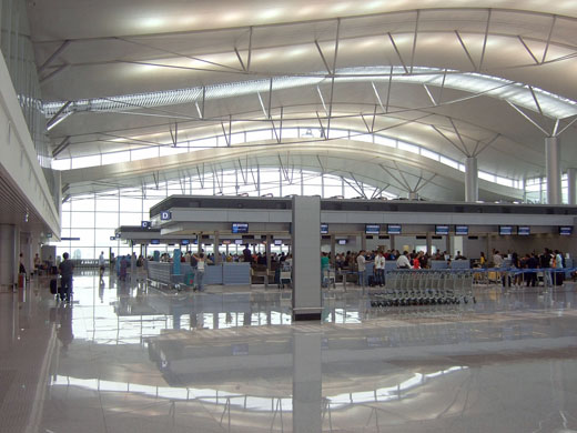 Check-in counters at the International Terminal