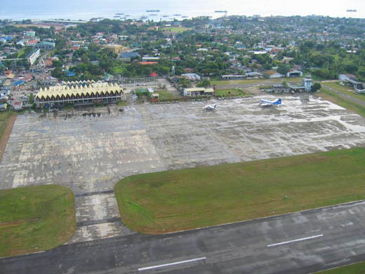 Aerial view of the Apron.