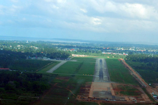 On approach to Zanzibar International Airport
