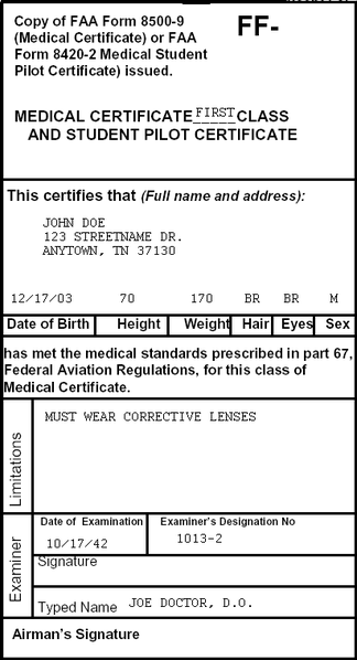 medical faa certificate requirements certification airports worldwide
