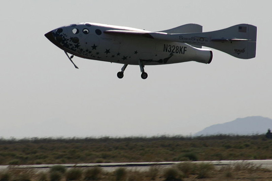 Scaled Composites SpaceShipOne used horizontal landing after being launched from a carrier airplane