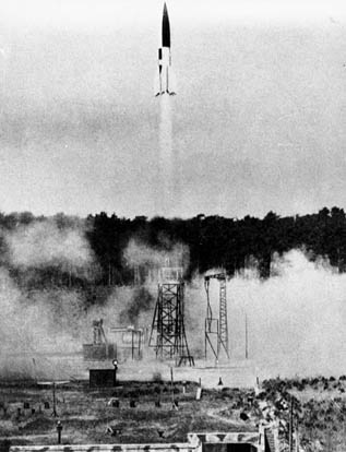 A V2 launched from a fixed site in Summer 1943