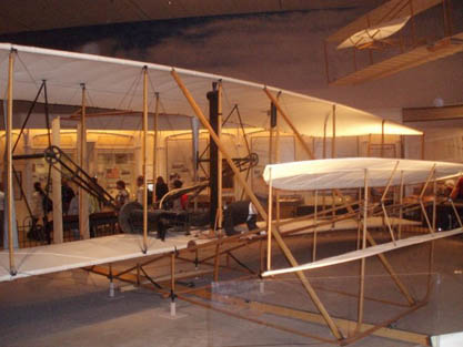 Wright Flyer I in the Smithsonian exhibit