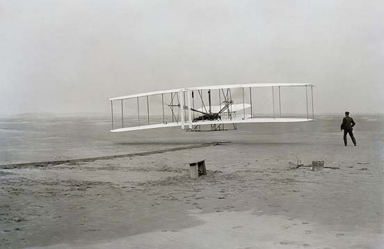 Orville and Wilbur Wright flew the Wright Flyer I, the first airplane, on December 17, 1903 at Kitty Hawk, North Carolina.