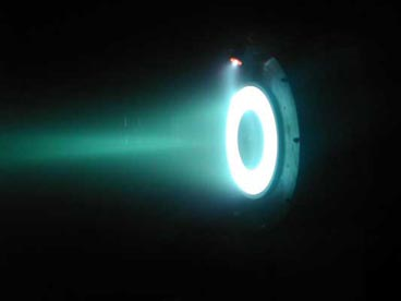 Hall effect thruster. The electric field in a plasma double layer is so effective at accelerating ions that electric fields are used in ion drives.
