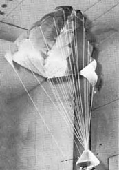 The Rogallo flexible wing is a self-inflating system that was tested for the Gemini space capsule recovery.