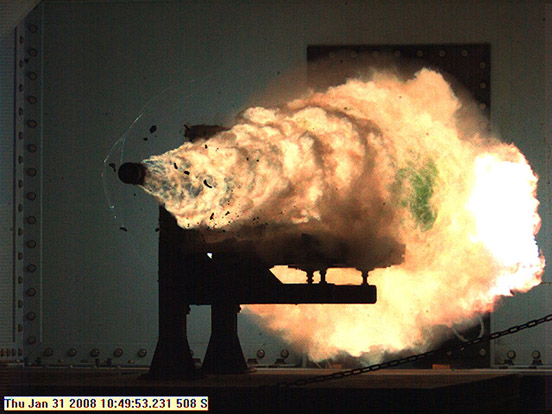 Naval Surface Warfare Center test firing in January 2008