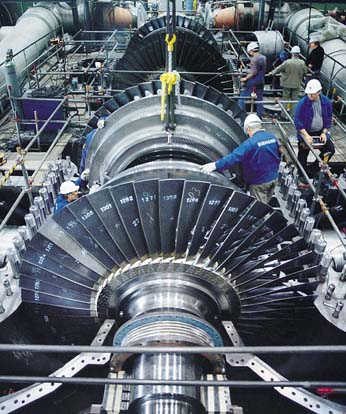 Design of a turbine requires collaboration from engineers from many fields