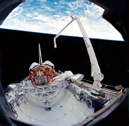 View of the Canadarm during Space Shuttle mission STS-72.