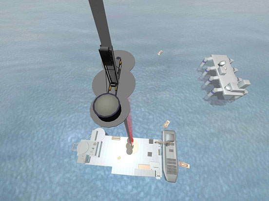 One concept for the space elevator has it tethered to a mobile seagoing platform.