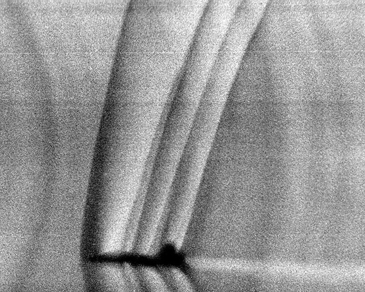 Shock waves produced by a T-38 Talon during flight