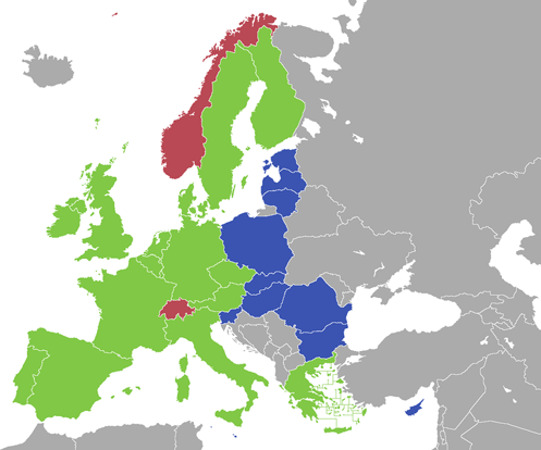 ESA and EU member countries     ESA-only members     EU-only members