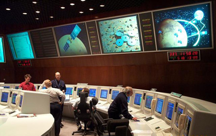 The ESA control room in Darmstadt, Germany