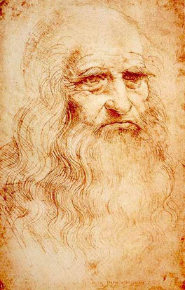 Leonardo DaVinci, seen here in a self-portrait, has been described as the epitome of the artist/engineer. He is also known for his studies on human anatomy and physiognomy