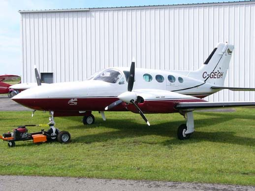 A Cessna 421B Golden Eagle at Smiths Falls Airport June 2006