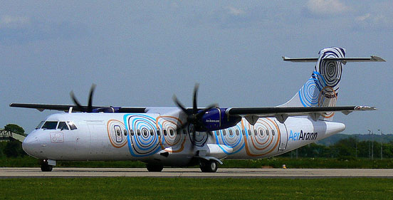 Aer Arann ATR 72 at Leeds Bradford International Airport, UK