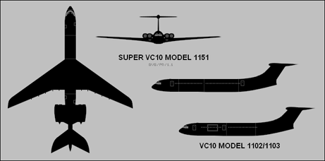 VC10 Silhouette Drawing