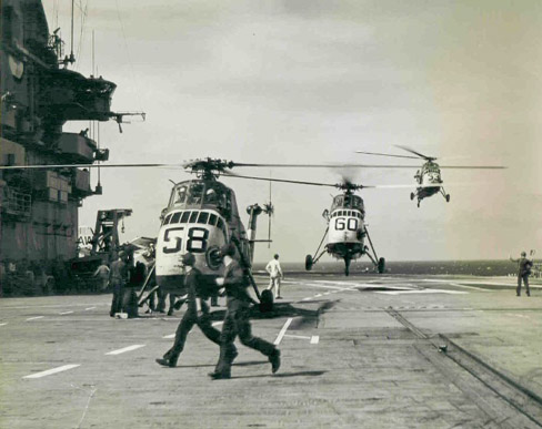 SH-34Js on the USS Essex in 1962