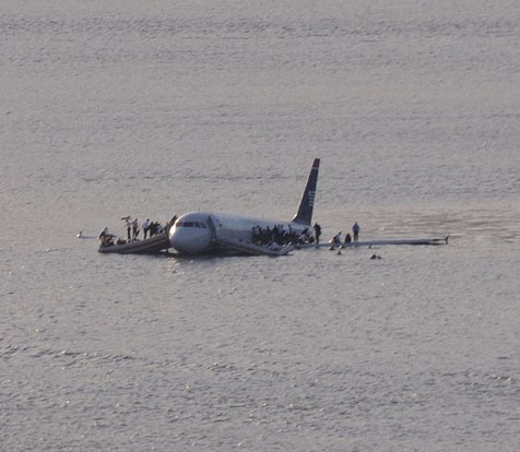 US Airways Flight 1549, ditched in the Hudson River in 2009 with all passengers surviving
