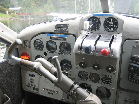 Instrument panel of a DHC-2