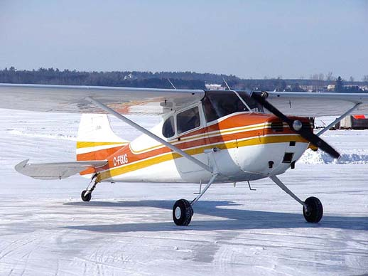 Cessna 170A on an ice runway near Ottawa, Ontario