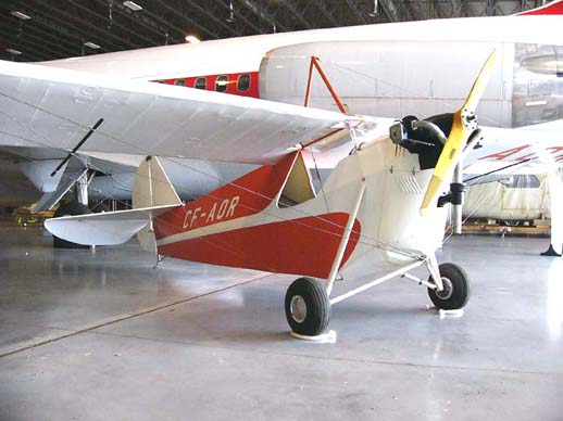 Aeronca C-2 registered CF-AOR in the Canada Aviation Museum, Rockcliffe (Ottawa) Ontario, 2006