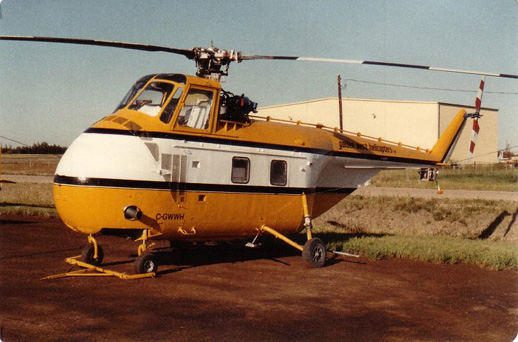 A Sikorsky S-55B in service with Golden West Helicopters, St. Albert, Alberta, 1985